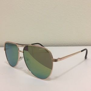 Accessories - Gold Mirrored Aviator Sunglasses